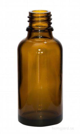 Glasflaska 30 ml - brun