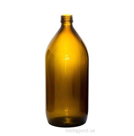 Glasflaska 1 liter - brun