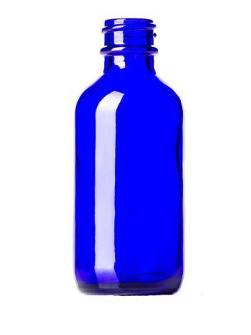 Glasflaska 50 ml - blå