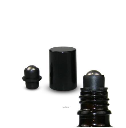 Roller - svart, 18 mm, glaskula