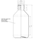 PET-flaska - brun, 250 ml, 28 mm hals