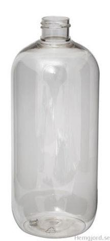 PET-flaska - klar, 1000 ml, 28 mm hals