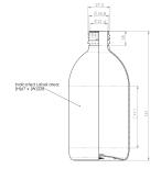 PET-flaska, rundad - brun, 500 ml, 28 mm hals