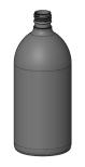 PET-flaska, rundad - brun, 1000 ml, 28 mm hals