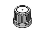 Vit kapsyl, utan insats - 18 mm