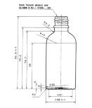 Glasflaska 50 ml - klar